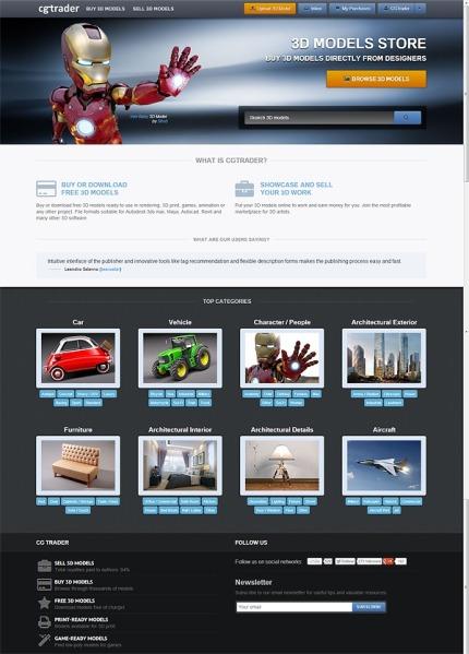CGTraderV2-Homepage