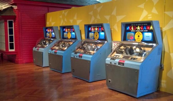 A group of complete Mold-A-Rama machines (used with permission).