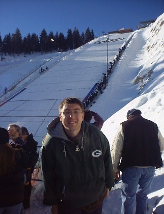 Me at the 2002 Olympic ski jump in salt Lake City