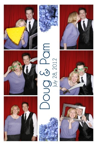 My buddy Jeremy and his wife Heather in a photo booth.