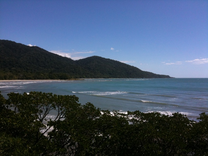Cape Tribulation in Australia where rain forest meets Great Barrier Reef.