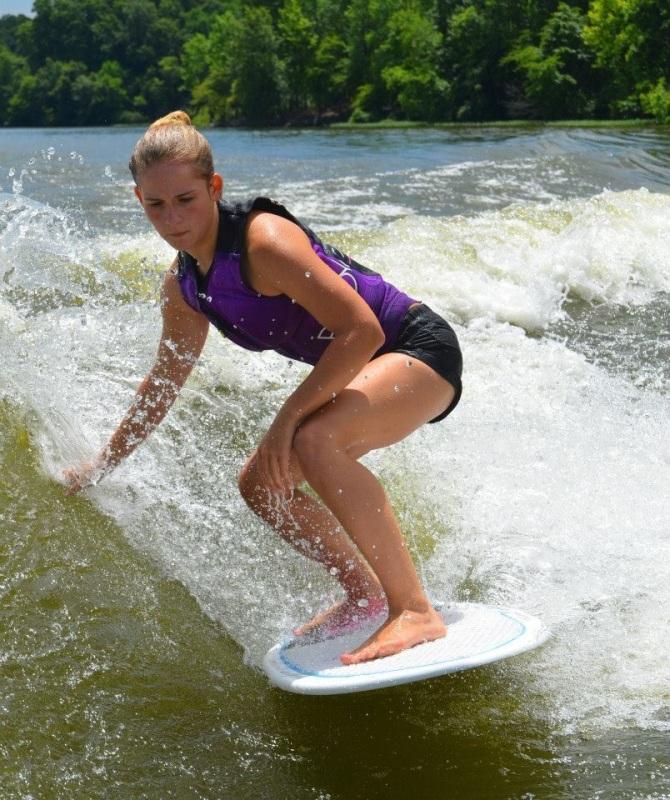 My niece Zoey wakeboarding