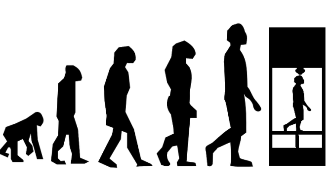 3D Printing Evolution? (art by Doug Mancosky of printingDDD.com)